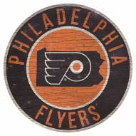 """Philadelphia Flyers 12"""" Circle with State Sign"""