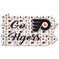"Philadelphia Flyers 12"" Floral State Sign"