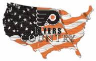 "Philadelphia Flyers 15"" USA Flag Cutout Sign"