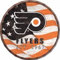 "Philadelphia Flyers 16"" Flag Barrel Top"