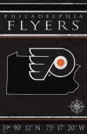 "Philadelphia Flyers 17"" x 26"" Coordinates Sign"