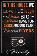 """Philadelphia Flyers 17"""" x 26"""" In This House Sign"""