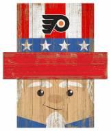 """Philadelphia Flyers 19"""" x 16"""" Patriotic Head"""