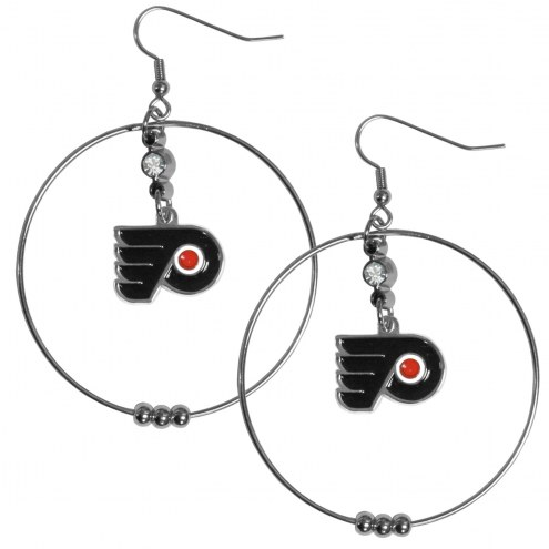 "Philadelphia Flyers 2"" Hoop Earrings"