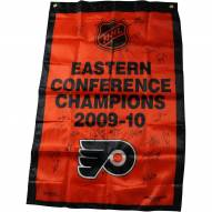 Philadelphia Flyers 2009-10 Eastern Conference Champions Signed 36 x 24 Banner
