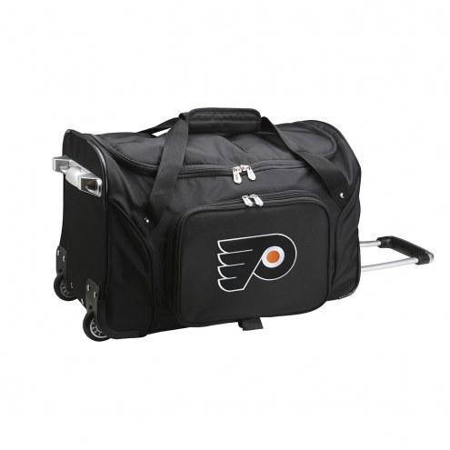 """Philadelphia Flyers 22"""" Rolling Duffle Bag"""