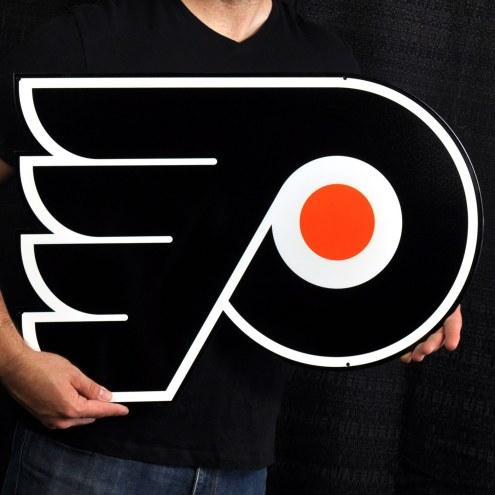 "Philadelphia Flyers 24"" Steel Logo Sign"