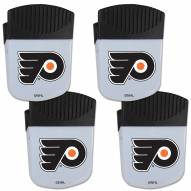 Philadelphia Flyers 4 Pack Chip Clip Magnet with Bottle Opener