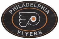 "Philadelphia Flyers 46"" Heritage Logo Oval Sign"
