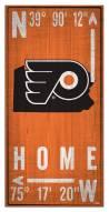 "Philadelphia Flyers 6"" x 12"" Coordinates Sign"