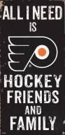 "Philadelphia Flyers 6"" x 12"" Friends & Family Sign"