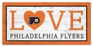 "Philadelphia Flyers 6"" x 12"" Love Sign"