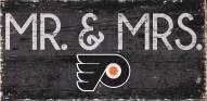 "Philadelphia Flyers 6"" x 12"" Mr. & Mrs. Sign"