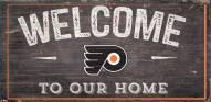 """Philadelphia Flyers 6"""" x 12"""" Welcome Sign"""