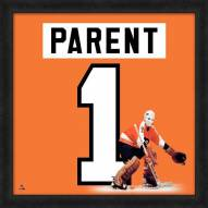 Philadelphia Flyers Bernie Parent Uniframe Framed Jersey Photo