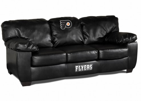 Philadelphia Flyers Black Leather Classic Sofa