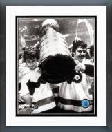 Philadelphia Flyers Bobby Clarke & Bernie Parent with Stanley Cup Framed Photo