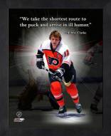 Philadelphia Flyers Bobby Clarke Framed Pro Quote