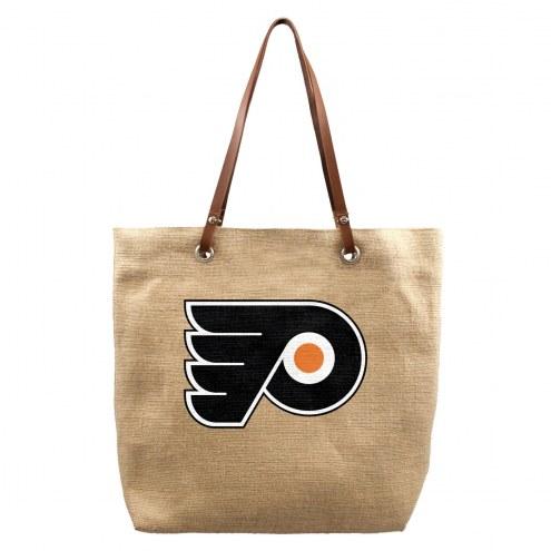 Philadelphia Flyers Burlap Market Tote