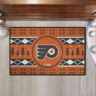 Philadelphia Flyers Christmas Sweater Starter Rug