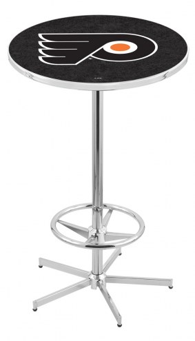 Philadelphia Flyers Chrome Bar Table with Foot Ring