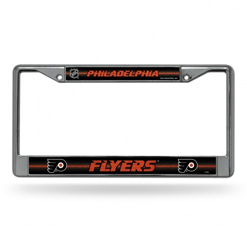 Philadelphia Flyers Chrome Glitter License Plate Frame