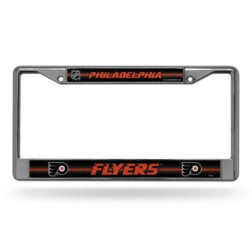 Philadelphia Flyers Chrome Glitter License Plate Frame