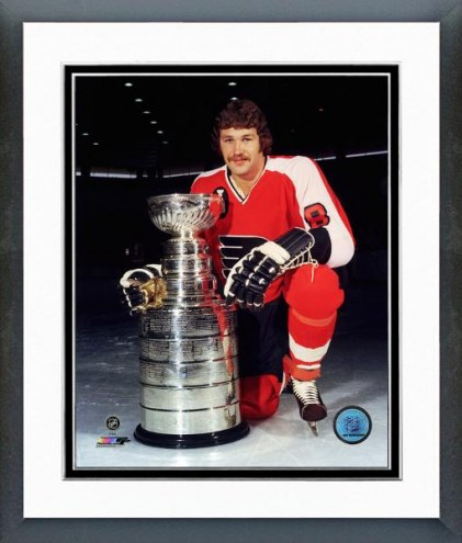Philadelphia Flyers Dave Schultz with Stanley Cup Framed Photo