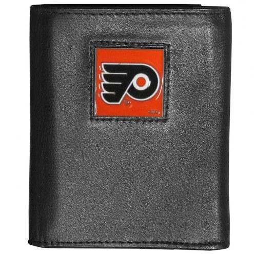 Philadelphia Flyers Deluxe Leather Tri-fold Wallet in Gift Box