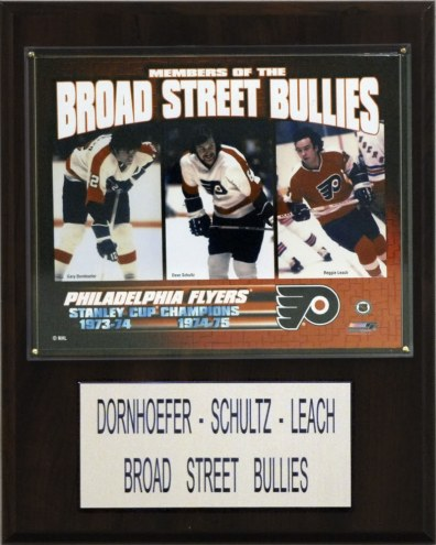 "Philadelphia Flyers Dornhoefer-Schultz-Leach 12"" x 15"" Player Plaque"
