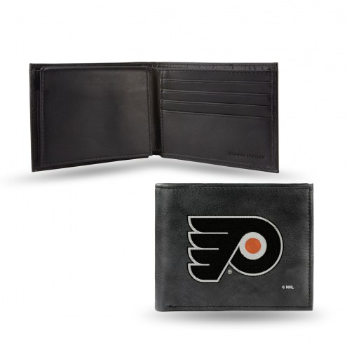 Philadelphia Flyers Embroidered Leather Billfold Wallet