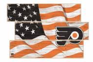 Philadelphia Flyers Flag 3 Plank Sign