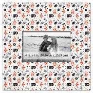"Philadelphia Flyers Floral Pattern 10"" x 10"" Picture Frame"