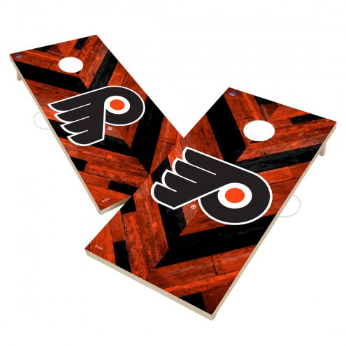 Philadelphia Flyers Herringbone Cornhole Game Set