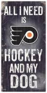 Philadelphia Flyers Hockey & My Dog Sign