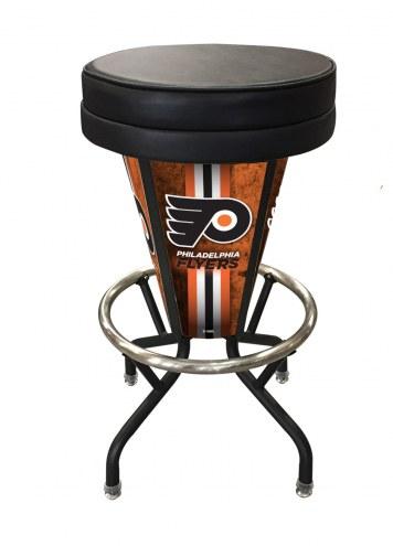 Stupendous Philadelphia Flyers Indoor Outdoor Lighted Bar Stool Inzonedesignstudio Interior Chair Design Inzonedesignstudiocom