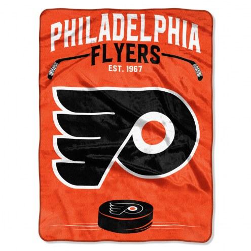 Philadelphia Flyers Inspired Plush Raschel Blanket