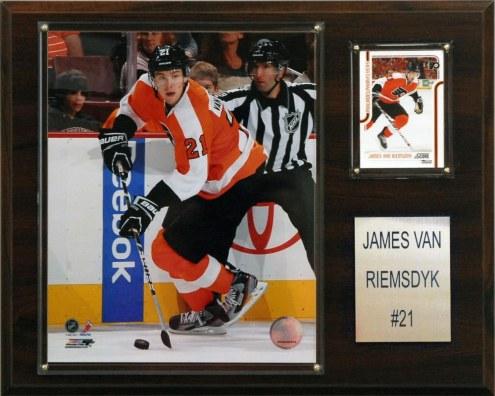 """Philadelphia Flyers James Van Riemsdyk 12"""" x 15"""" Player Plaque"""