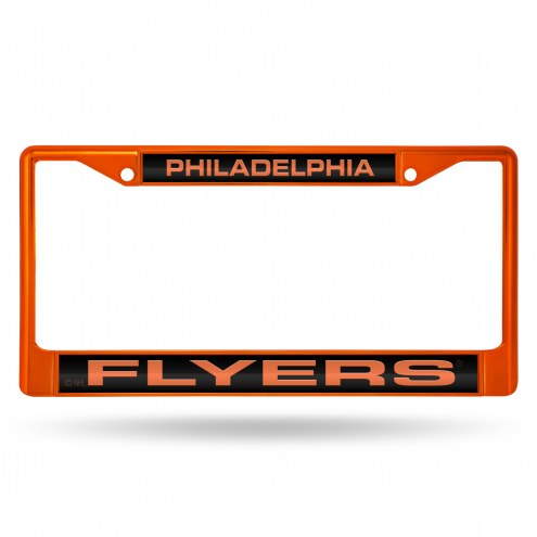 Philadelphia Flyers Laser Colored Chrome License Plate Frame