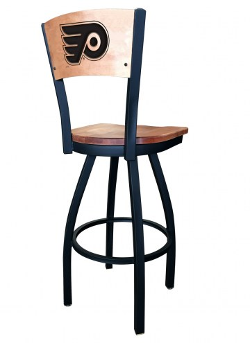 Philadelphia Flyers Laser Engraved Logo Swivel Bar Stool