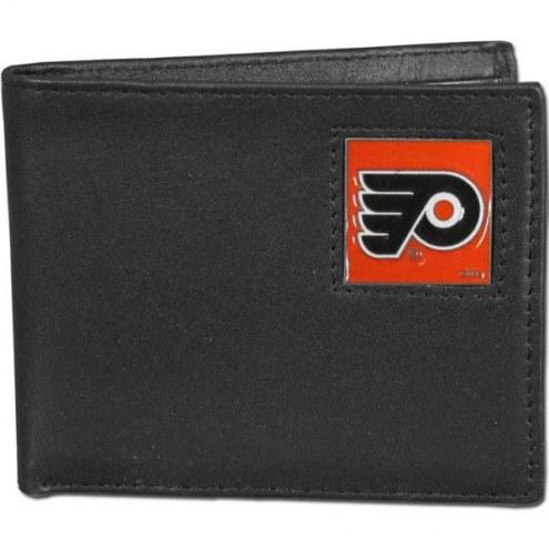 Philadelphia Flyers Leather Bi-fold Wallet in Gift Box
