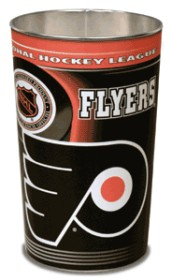 Philadelphia Flyers Metal Wastebasket