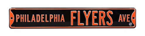 Philadelphia Flyers NHL Authentic Street Sign