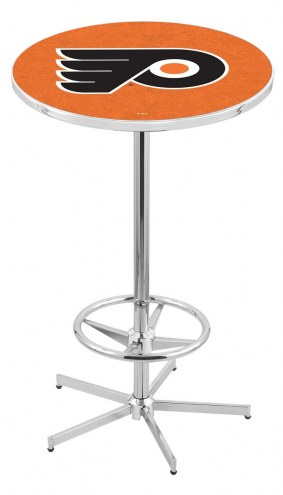 Philadelphia Flyers NHL Chrome Bar Table with Foot Ring