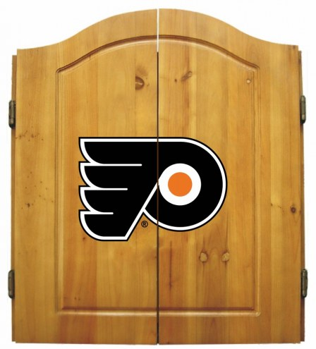 Philadelphia Flyers NHL Complete Dart Board Cabinet Set