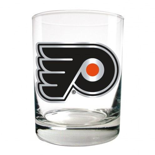 Philadelphia Flyers NHL Rocks Glass - Set of 2