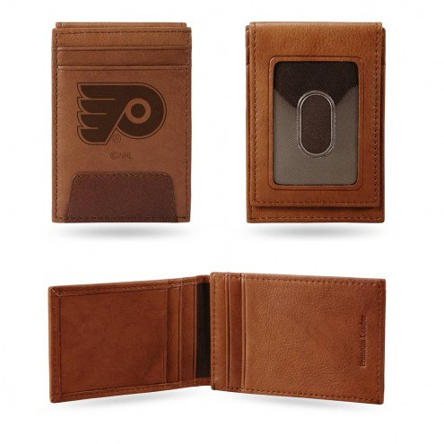 Philadelphia Flyers Premium Leather Front Pocket Wallet