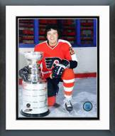 Philadelphia Flyers Reggie Leach With the Stanley Cup Framed Photo