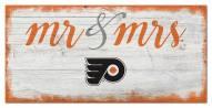 Philadelphia Flyers Script Mr. & Mrs. Sign
