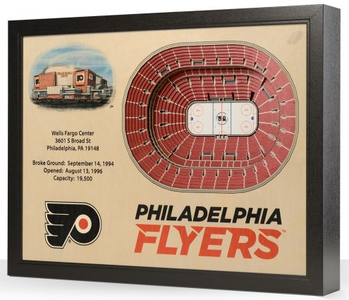 Philadelphia Flyers 25-Layer StadiumViews 3D Wall Art